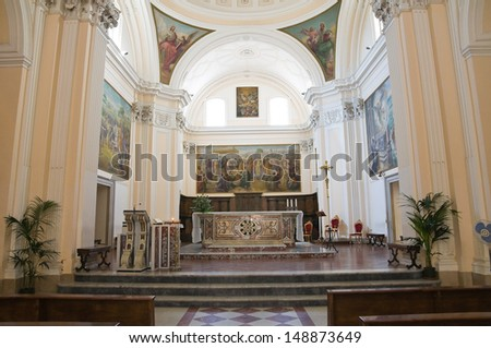 Cathedral of Manfredonia. Puglia. Italy.  - stock photo