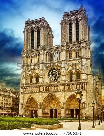 Cathedral of Notre-Dame - stock photo