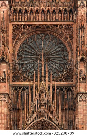 cathedral of Notre-Dame at Strasbourg, France - stock photo