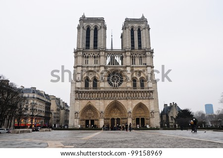 Cathedral of Notre-Dame, Paris, France - stock photo