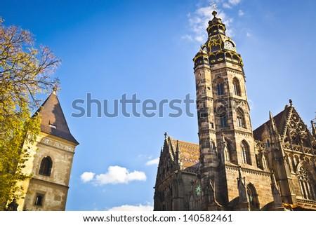 Cathedral of Saint Elizabeth in Kosice, Slovakia. European Capital of Culture - stock photo