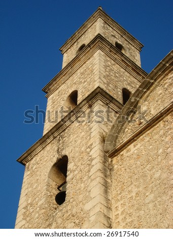 Cathedral of Saint Idelfonso, the oldest in North America Detail: bell tower