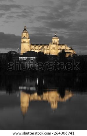 Cathedral of Salamanca, Castilla y Leon, Spain - stock photo