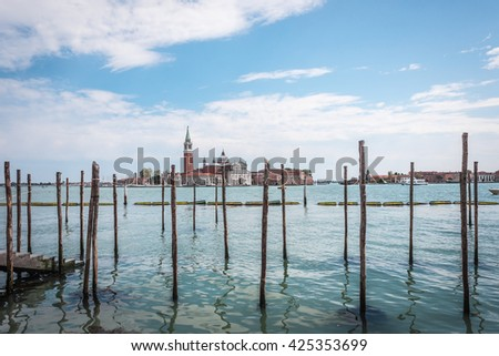 Cathedral of San Giorgio Maggiore - Cathedral in Venice, on the island of San Giorgio Maggiore. Italy. 2016. - stock photo