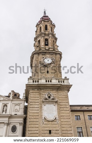 Cathedral of Savior (Catedral del Salvador or Cathedral La Seo) is a Roman Catholic cathedral in Zaragoza, Spain. Cathedral is part of World Heritage Site Mud?jar Architecture of Aragon. Bell tower.