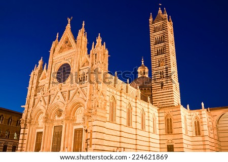 Cathedral of Siena (Duomo di Siena), Italy - stock photo