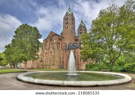 Cathedral of Speyer in Germany - stock photo