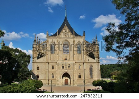 Cathedral of st. Barbora,UNESCO world heritage,  Kutna Hora, Czech republic