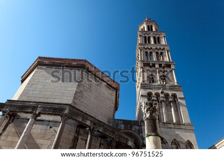Cathedral of St. Dominus, Diocletian's Palace, Split Croatia. - stock photo
