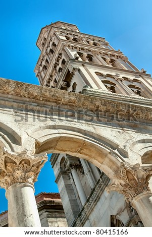 Cathedral of St. Domniusa in Split, Croatia - stock photo