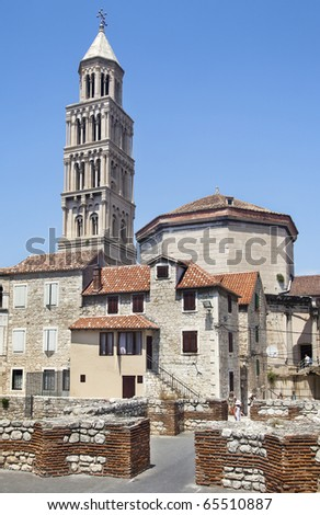 Cathedral of St. Domniusa in the downtown of Split town, Dalmatia, Croatia