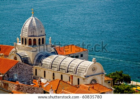 Cathedral of St. James in Sibenik, Croatia - stock photo
