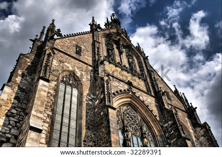 Cathedral Of St. Peter And Paul in Brno, Czech Republic - stock photo