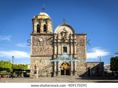 Cathedral of Tequila, Jalisco, Mexico. - stock photo