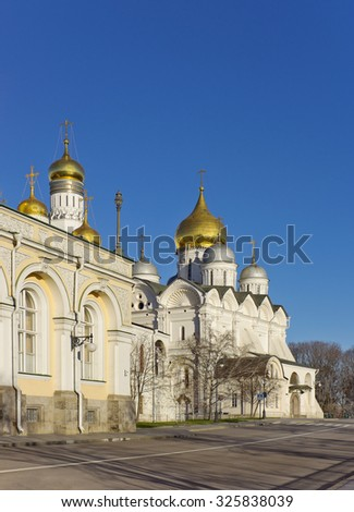 Cathedral of the Archangel in Moscow Kremlin, Russia - stock photo