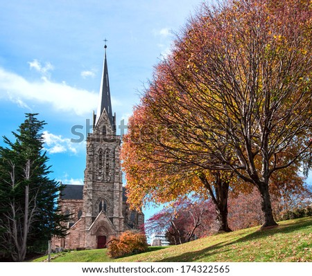 Cathedral of the city of Bariloche, Patagonia, Argentina - stock photo