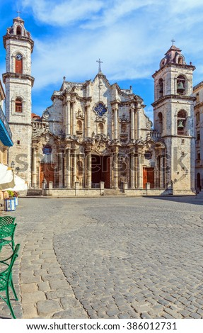 Cathedral of The Virgin Mary of the Immaculate Conception, Havana, Cuba - stock photo