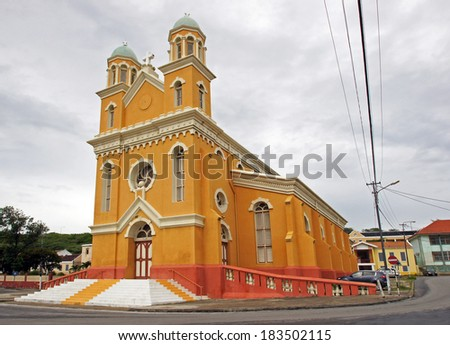 Cathedral of Willemstad, Curacao, ABC Islands - stock photo