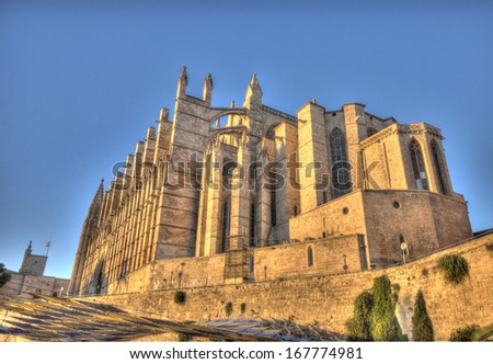 cathedral Palma de Majorca, Spain - stock photo