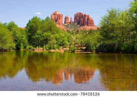 Cathedral Rock in Sedona, Arizona - stock photo