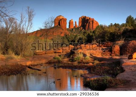 Cathedral Rock, Sedona - stock photo