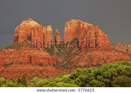 Cathedral Rock, Sedona, AZ - stock photo