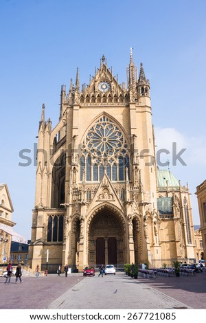 Cathedral Saint-Etienne de Metz, Lorraine, France. - stock photo