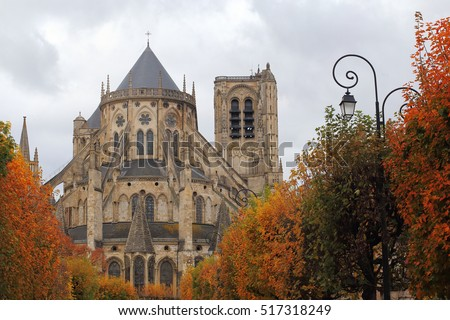 Cathedral Saint-Etienne in autumn, Bourges, Centre, France