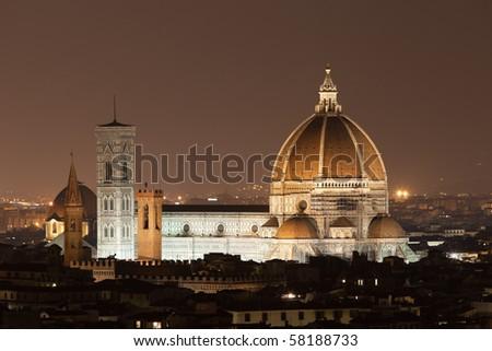 Cathedral Santa Maria dei Fiore, Florence, Tuscany, Italy - stock photo