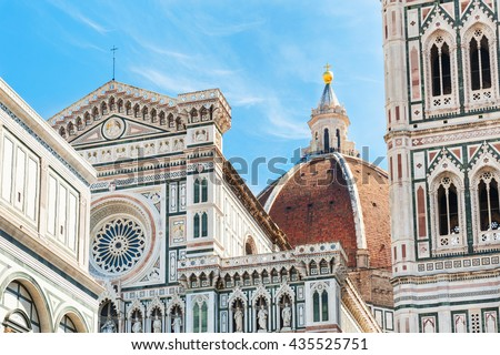 Cathedral Santa Maria del Fiore in Florence, Italy.  - stock photo