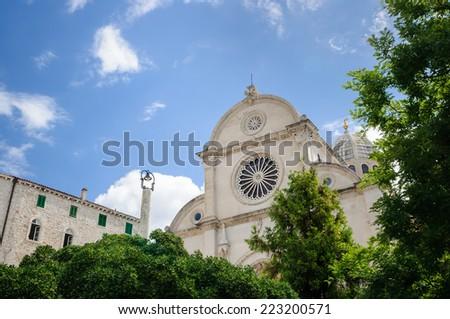 Cathedral St James Sibenik Croatia - stock photo