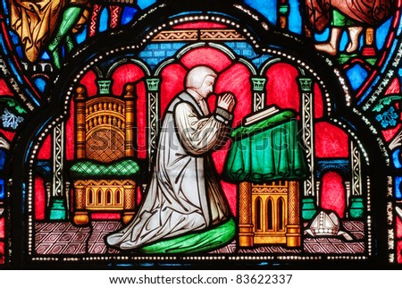 Cathedral Window - stock photo