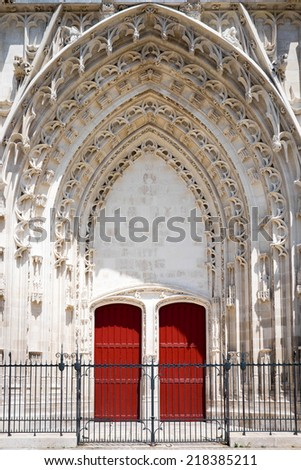 Cathedrale St-Pierre et St-Paul, Troyes, France - stock photo