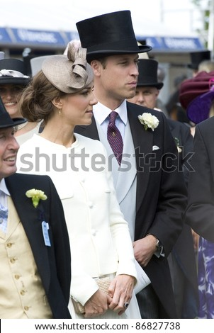 Catherine and William, Duke and Duchess of Cambridge attending The Epsom Derby Meeting at Epsom Downs Racecourse in Surrey. 4th June 2011.  05/06/2011  Picture by: Simon Burchell / Featureflash