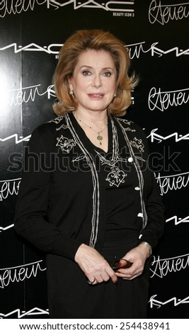 Catherine Deneuve. M A C pays homage to the French actress by naming her third M A C beauty icon and launching a limited edition colour collection in Beverly Hills, California on January 13, 2006.  - stock photo