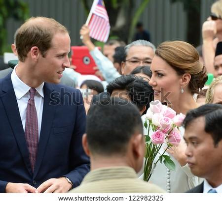 Catherine, Duchess of Cambridge and Prince William visit Kuala Lumpur Centre Park, Kuala Lumpur, Malaysia.  September 14, 2012. - stock photo