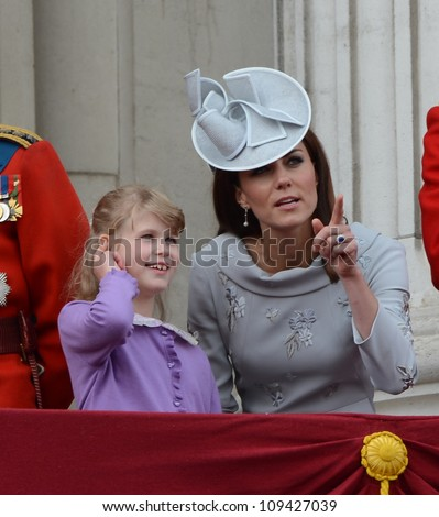 Catherine Duchess of Cambridge attend the Trooping Of The Colour at Horse Guards Parade, London, UK. June 16, 2012, Picture: Catchlight Media / Featureflash - stock photo