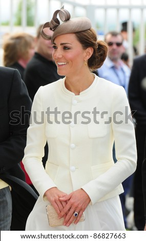Catherine, Duchess of Cambridge attending The Epsom Derby Meeting at Epsom Downs Racecourse in Surrey. 4th June 2011.  05/06/2011  Picture by: Simon Burchell / Featureflash - stock photo