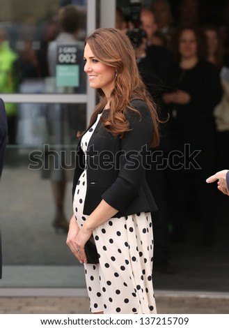 Catherine Duchess of Cambridge attending the Inauguration of Warner Bros. Studios in Watford, England. - stock photo