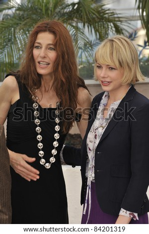 "Catherine Keener & Michelle Williams at photocall for their new movie ""Synecdoche, New York"" at the 61st Annual Cannes Film Festival.  May 23, 2008  Cannes, France. Picture: Paul Smith / Featureflash - stock photo"