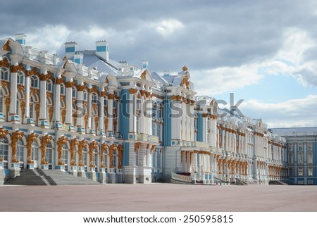 Catherine Palace in Tsarskoe Selo, suburb of St. Petersburg, Russia.