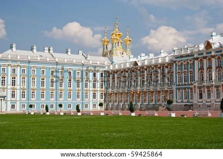 Catherine Palace, St. Petersburg, Russia - stock photo