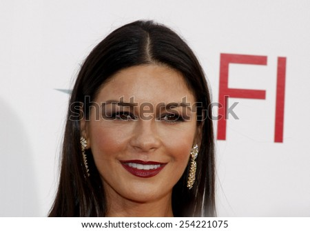 Catherine Zeta-Jones at the 37th Annual AFI LIfetime Achievement Awards held at the Sony Pictures Studios, California, United States on June 11, 2009.  - stock photo