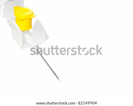 Catheter isolated on white background - stock photo