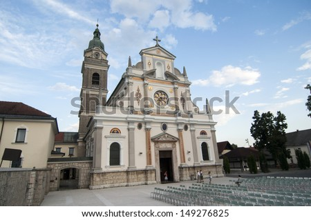 catholic church - stock photo