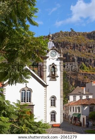 catholic church, Funchal, Madeira, Portugal - stock photo