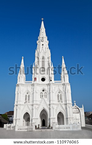 Catholic Church in Kanyakumari,Tamil Nadu, Southern India - stock photo