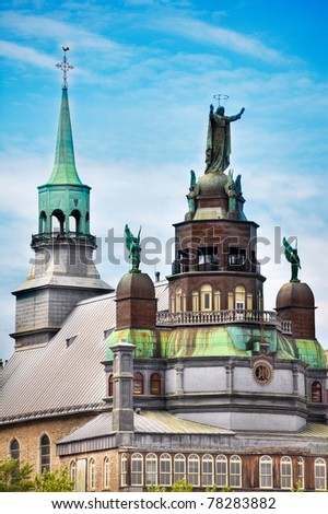 Catholic Church in Old Montreal Pier, Montreal, Canada - stock photo