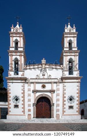Catholic church in Taxco, Mexico - stock photo