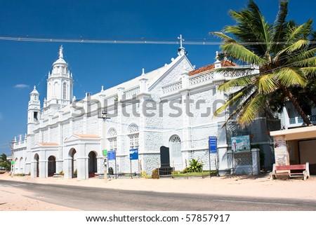Catholic  Church in village near  Kanyakumari,Tamil Nadu,  Southern India - stock photo